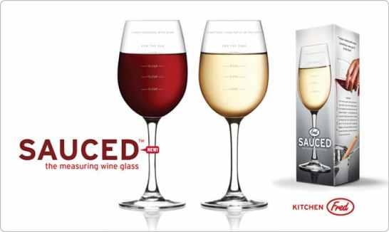 Le verre à vin mesureurSauced