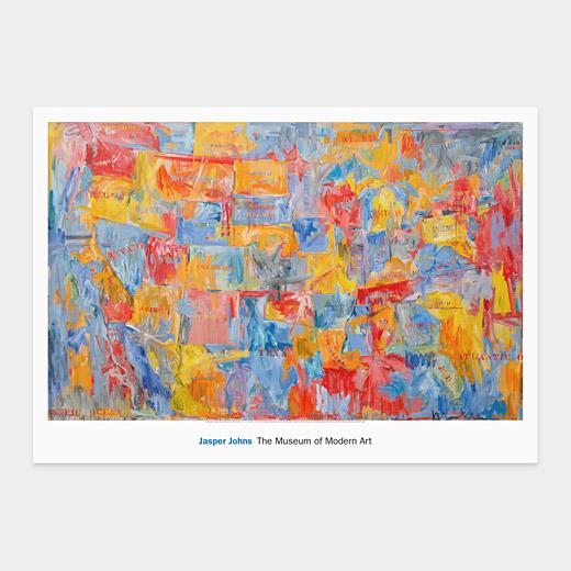 Deux tableaux tendances de Jackson Pollock et Jasper Johns 1