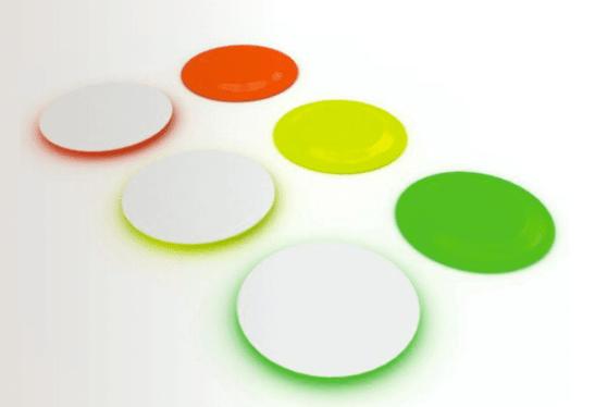 Assiette design : Les assiettes fluo