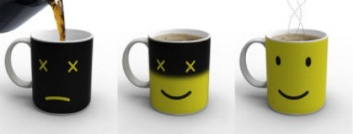 Morning Mug et Monday Mug by Damion O'Sullivan