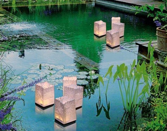 Lanternes design - La lanterne photophore flottante en papier