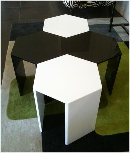 table basse acrylique