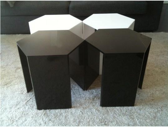 table basse modulable acrylique