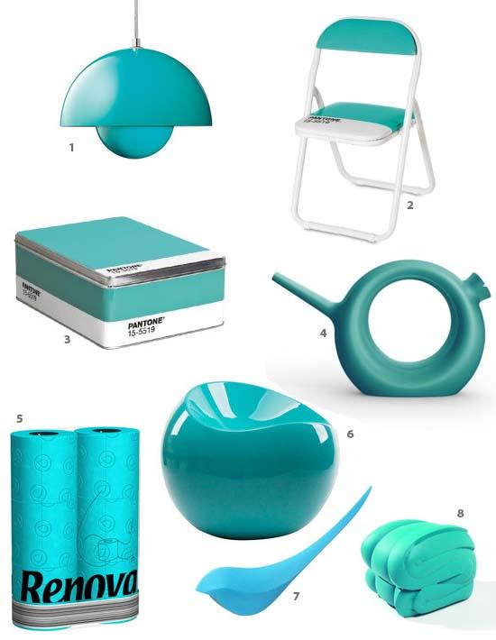 Déco colorée turquoise