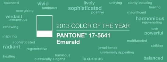 Couleur année 2013 17-5641 Émeraude