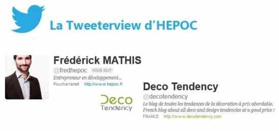 Frédérick MATHIS Tweeterview HEPOC