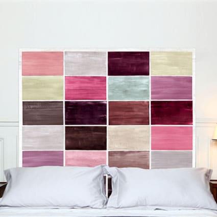 têtes de lit colorées Mademoiselle Tiss