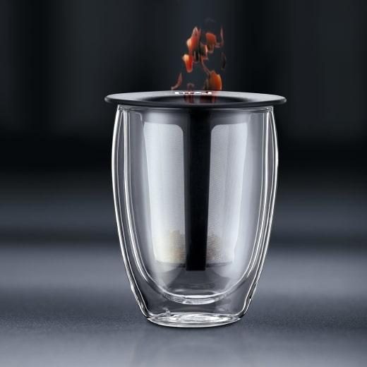 verre infuseur à thé