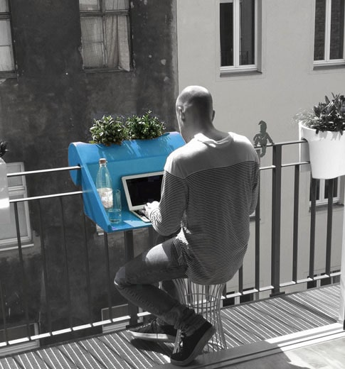 table de balcon Balkonzept Michael Hilgers