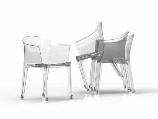 Fauteuils design - Les fauteuils transparents Tulipano à petit prix