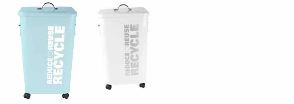 poubelle recyclage métal Present time