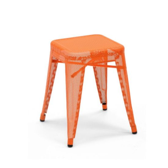 Tabouret design H45 perforé by Chantal Andriot