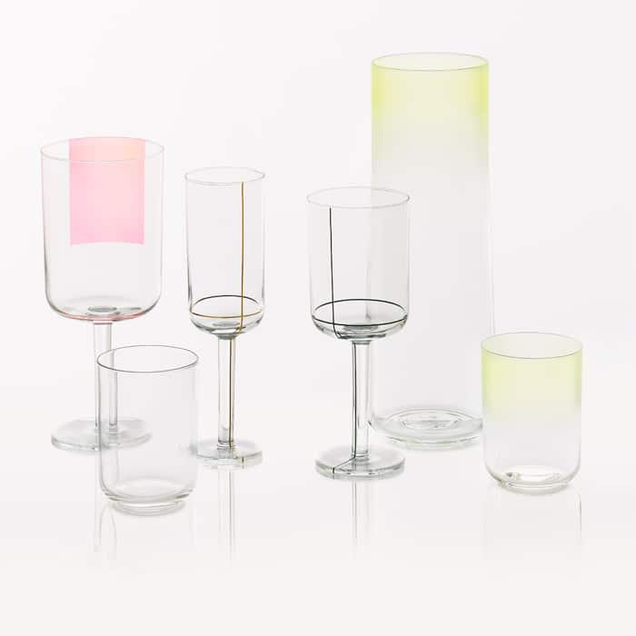 Les verres à vin designen cristalby Scholten & Baijings