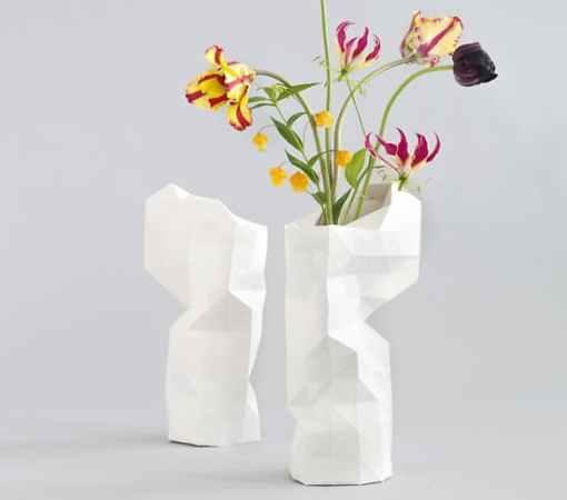 Vase Design -Le Paper Vase Cover by Pepe Heykoop