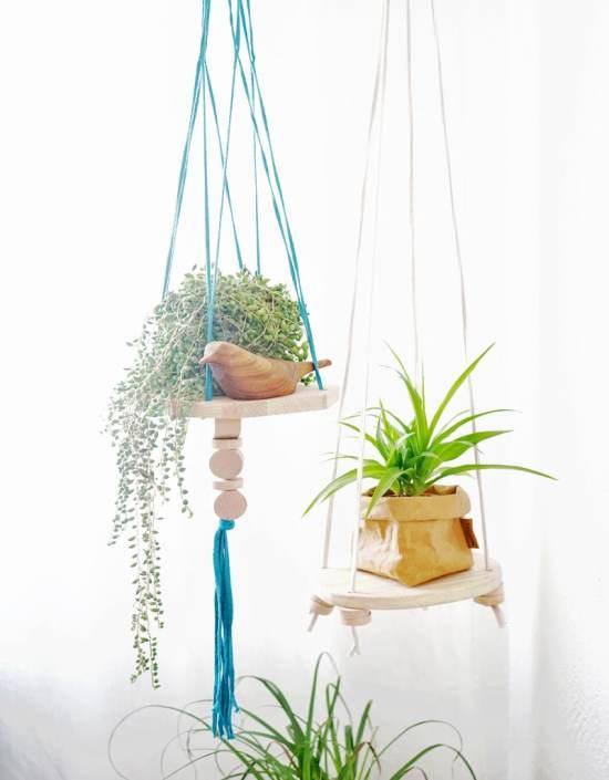 Étagères design - La suspension/étagère pour plantes Trapilho