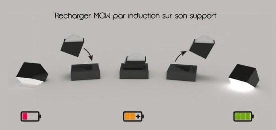 MOW lampe recharge sans fil induction