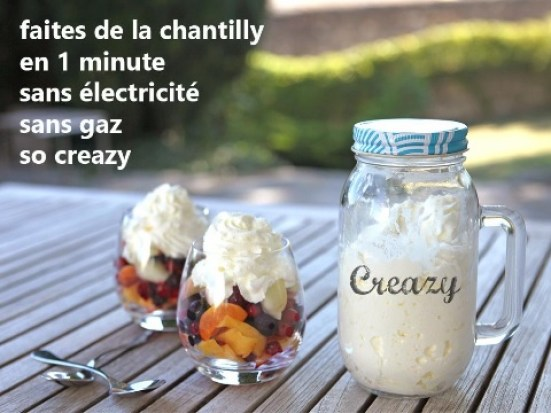 Creazy bocal chantilly une minute Cookut