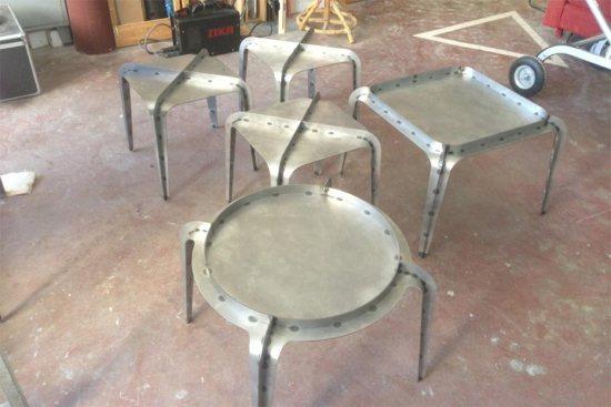 Hafucha tables basses Gilli Kuchik Ran Amitai Bakery Studio