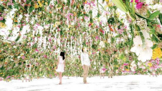 Floating Flower Garden jardin flottant teamLab Salon Deco Paris