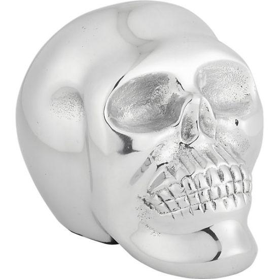 déco d'halloween crâne chromé