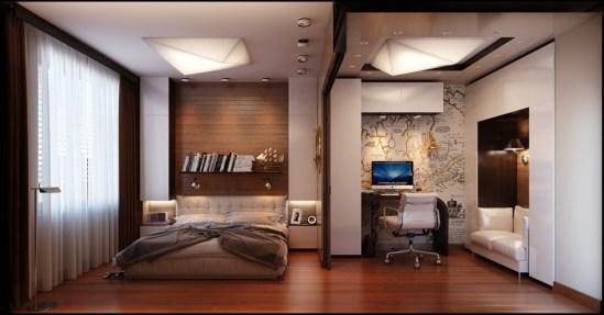 déco masculine chambre Armani Design décor