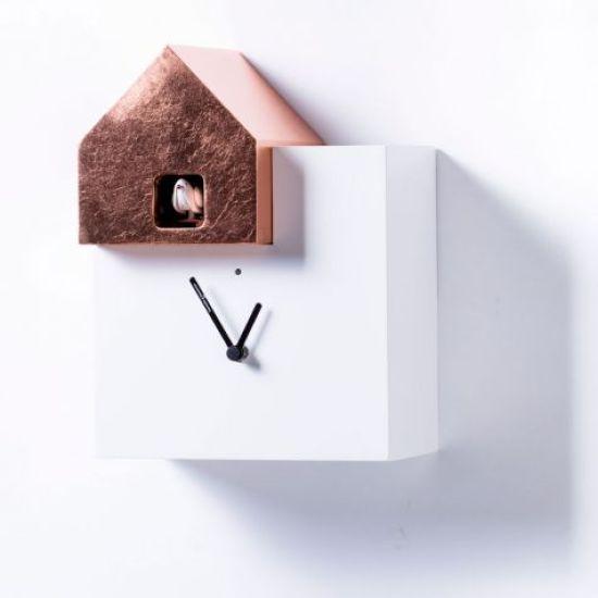 horloge à coucou design Ettore Leaf Diamantini Domeniconi