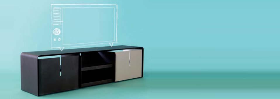 matière grise meuble TV Barber Luc Jozancy