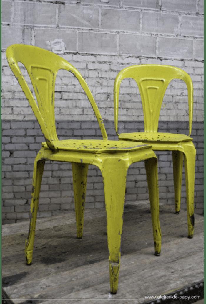 déco industrielle chaises de bistrot Multipl's