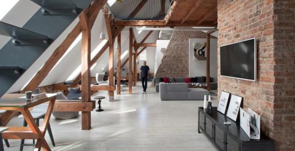 Aménagement des combles Attic Loft Cuns Studio