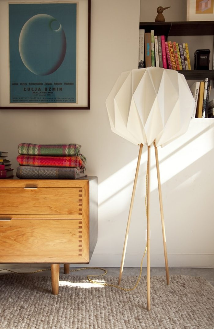 Lampes designs Lampo lampe en papier origami 1