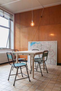 déco vintage industrielle penthouse Gand