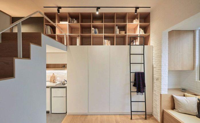 Visite d'un appartement vertical de 22 mètres carrés