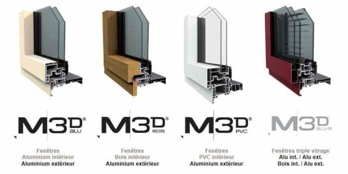 fenêtres multimatériaux M3D by Millet