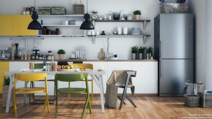 cuisines jaunes design