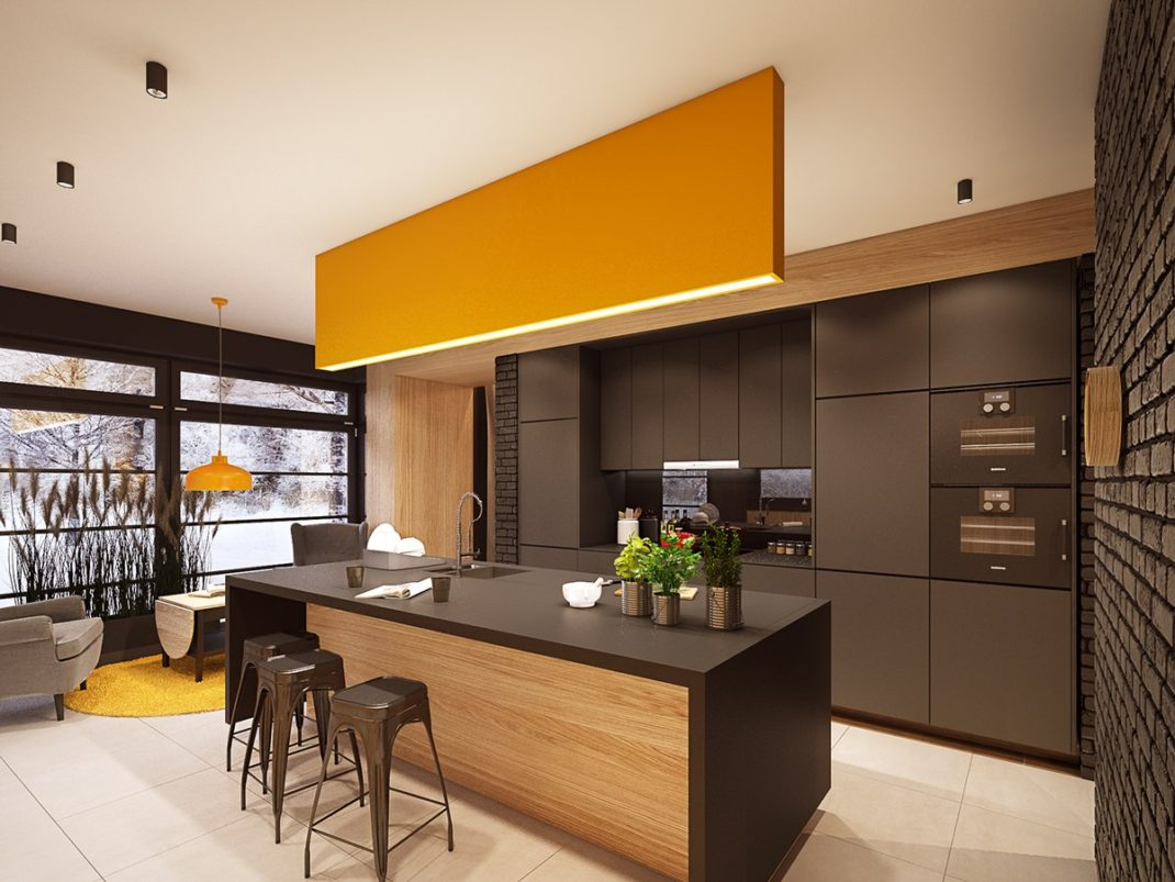 cociñas de deseño coloridas