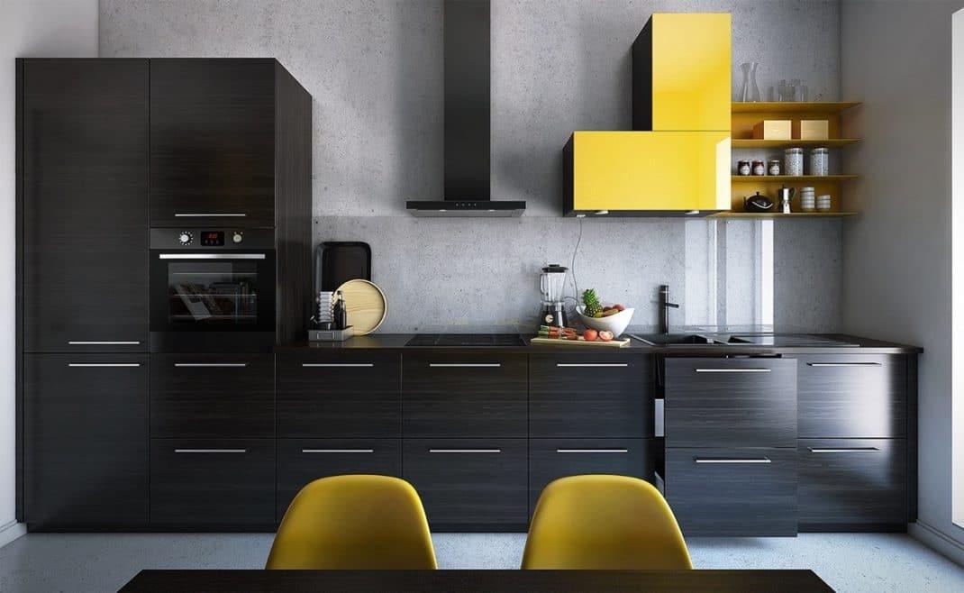 Cociñas de deseño colorido
