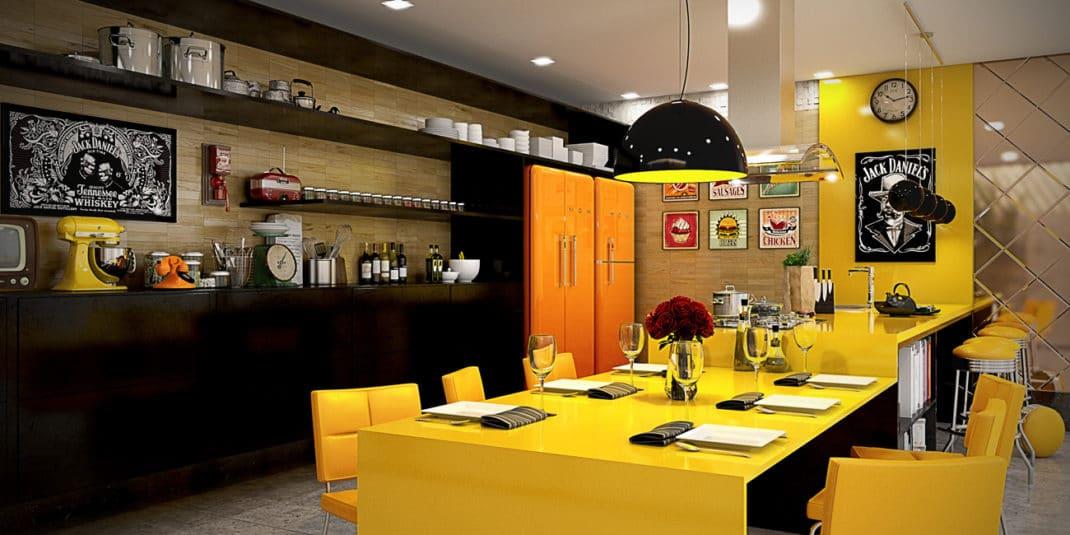 Deseño de kitches amarelas