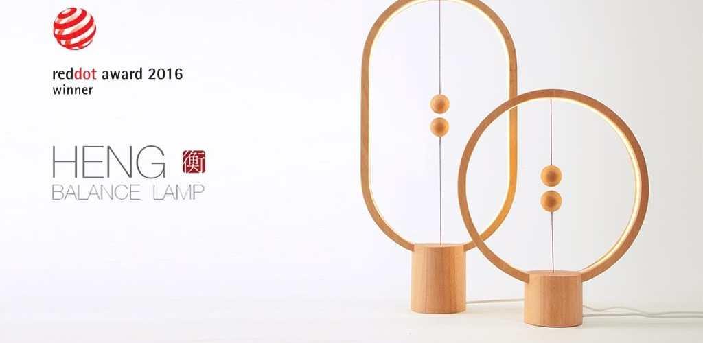 Heng Balance - Une lampe design avec interrupteur en lévitation