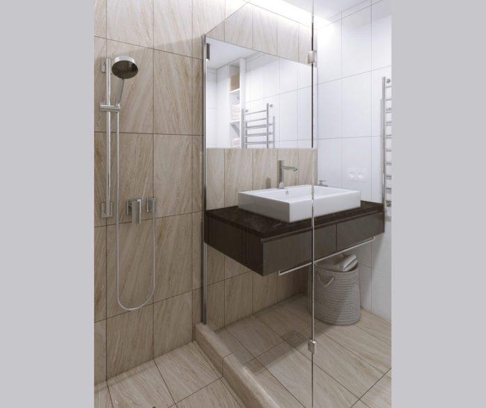 La salle de bain aussi propose une décoration apaisante