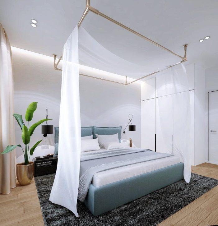 Une chambre aux couleurs apaisantes