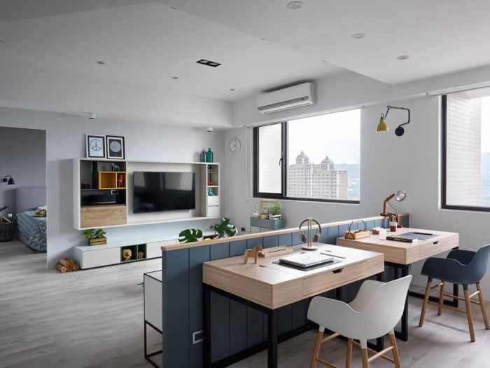 Un appartement de style scandinave très confortable