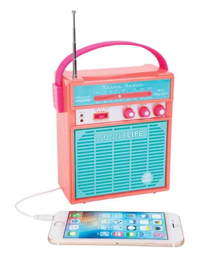 Sunnylife – L'enceinte portable Retro Sounds