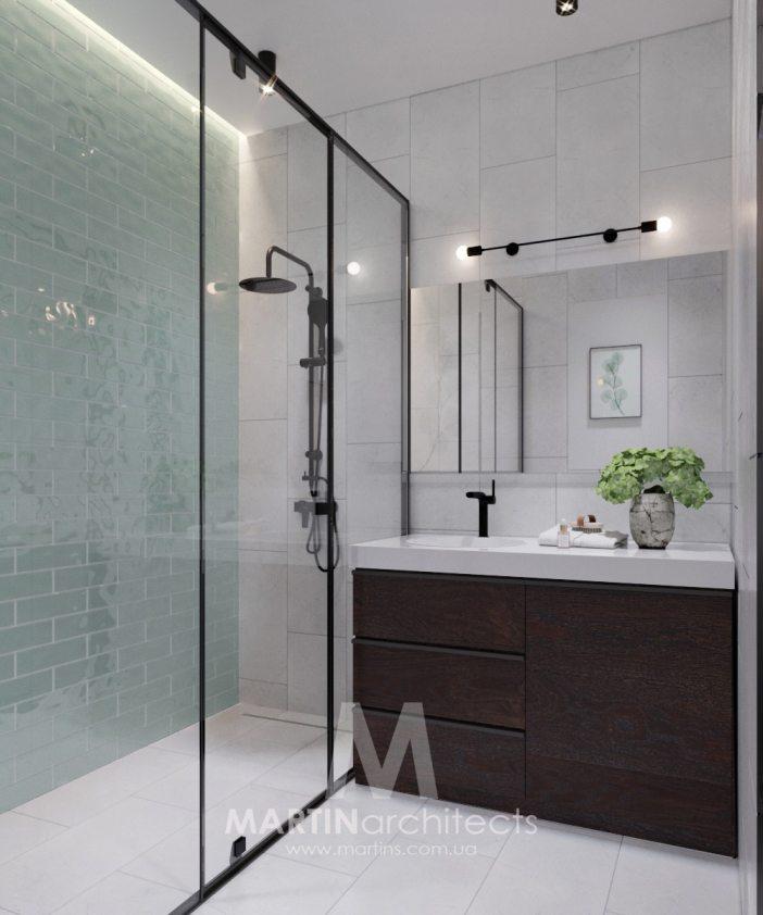 salle de bain simple et moderne