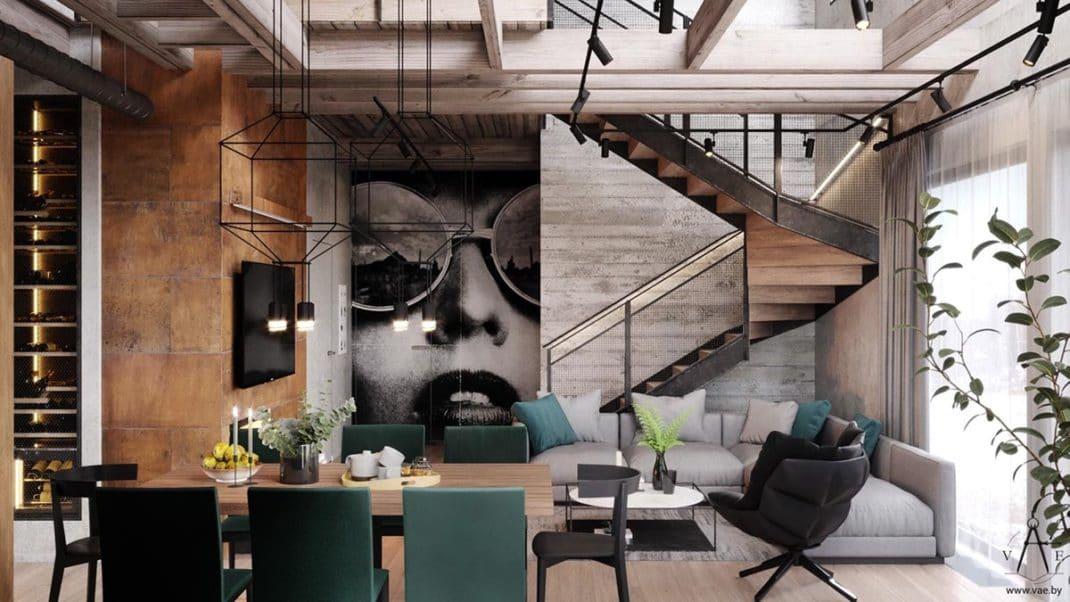 Dcoration industrielle chaleureuse pour ce magnifique loft