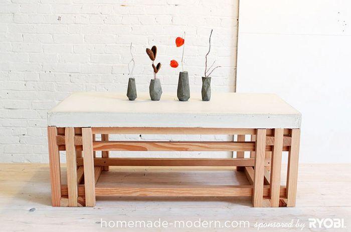 DIY Béton - Les tables en béton