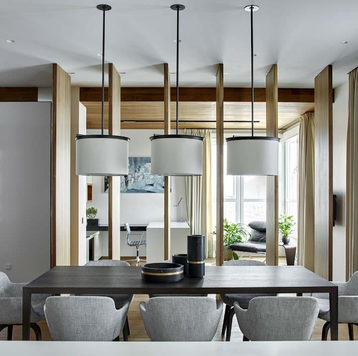 Un appartement contemporain glamour ouvert