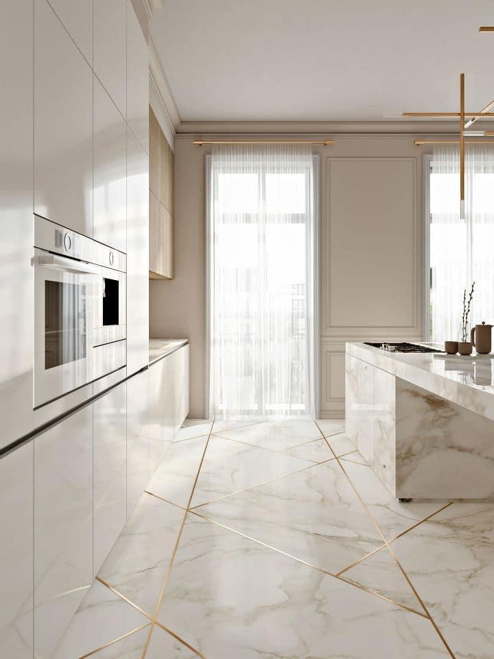 Une cuisine élégante assez minimaliste