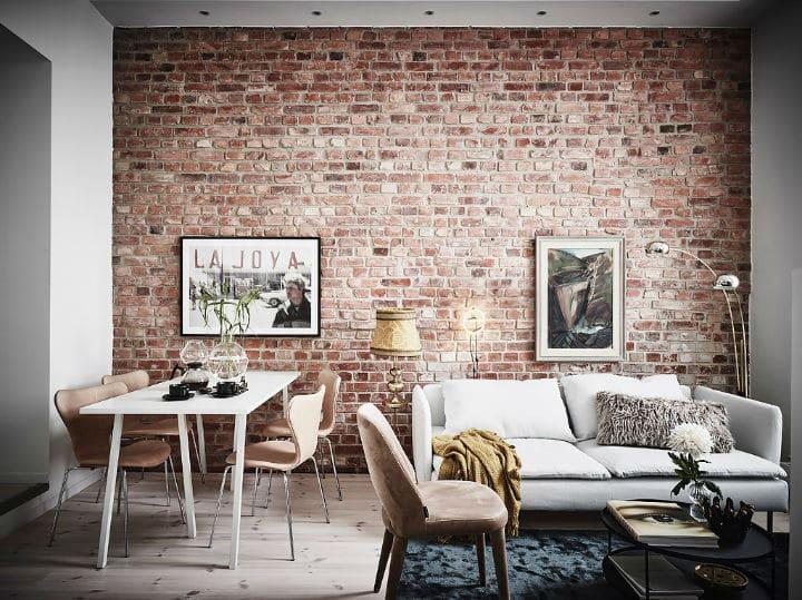 Murs De Brique Et De La Peinture Blanche L Accord Parfait
