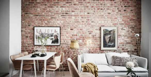 murs de briques et de la peinture blanche