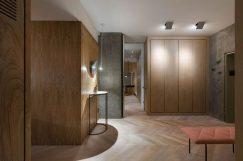 Olha Wood dévoile un appartement mixant le béton et le rose 6